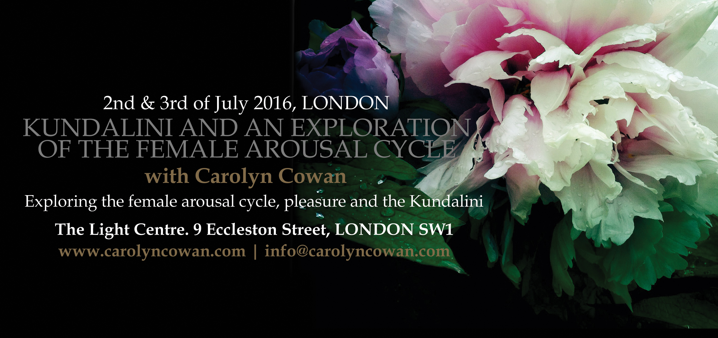 AROUSAL CYCLE July London Flyer FRONT